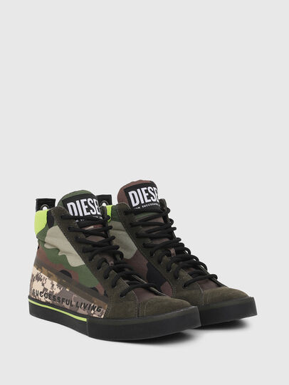 Diesel - S-DVELOWS MID, Green Camouflage - Sneakers - Image 2