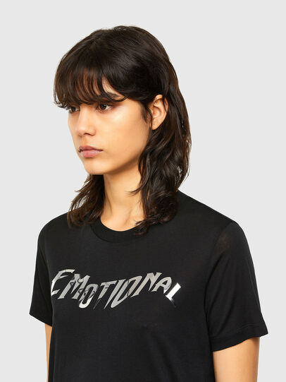 Diesel - T-SILY-V26, Black - T-Shirts - Image 4