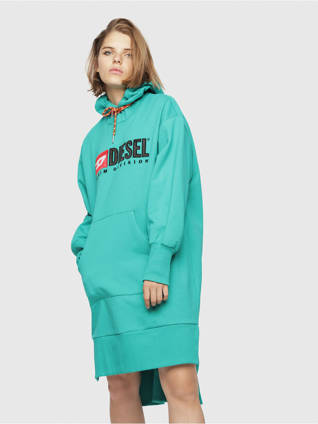 Diesel - D-ILSE-C, Water Green - Dresses - Image 1