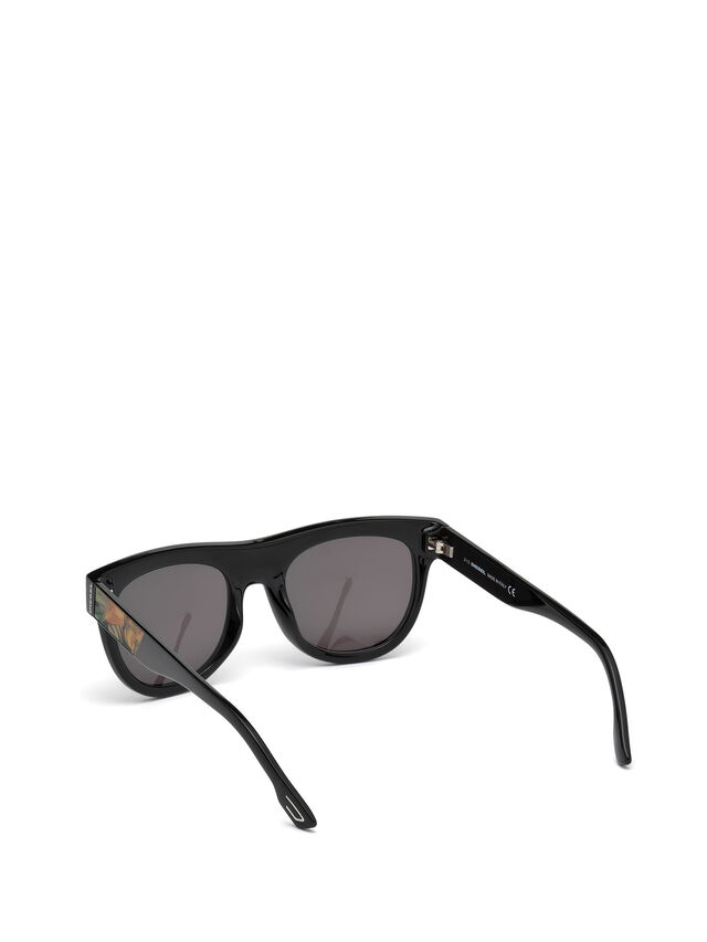Diesel - DM0160, Black/Orange - Sunglasses - Image 2