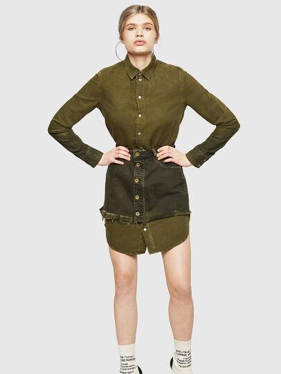Diesel - DE-DESY-Z, Military Green - Dresses - Image 1