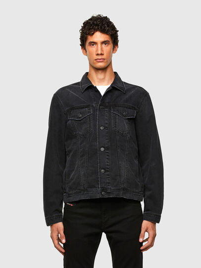 Diesel - NHILL-SP4, Black - Denim Jackets - Image 1
