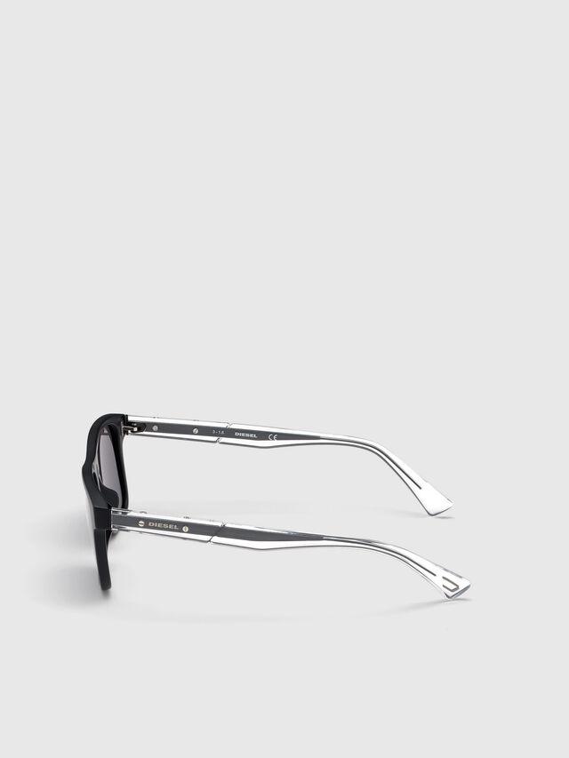 Diesel - DL0279, Black/White - Sunglasses - Image 3