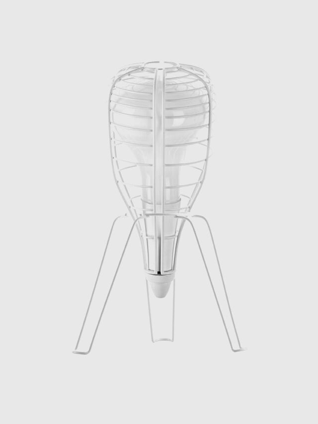 Living CAGE ROCKET BIANCO, White - Table Lighting - Image 1