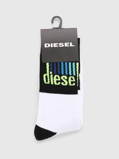 Diesel - SKM-RAY, White/Black - Socks - Image 2