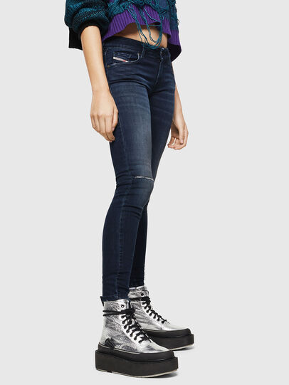 Diesel - Slandy Low 0870C, Dark Blue - Jeans - Image 5