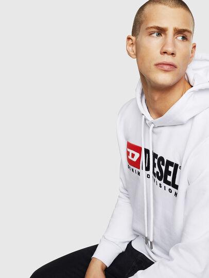 Diesel - S-GIR-HOOD-DIVISION, White - Sweaters - Image 4