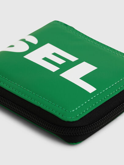Diesel - ZIPPY HIRESH S, Green - Zip-Round Wallets - Image 4