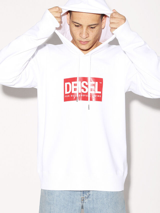 Diesel - DEIS-SHOOD, White - Sweaters - Image 2