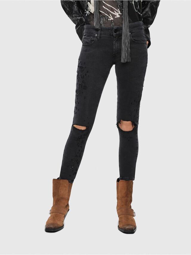 Diesel - Slandy Low 085AW, Black/Dark grey - Jeans - Image 1