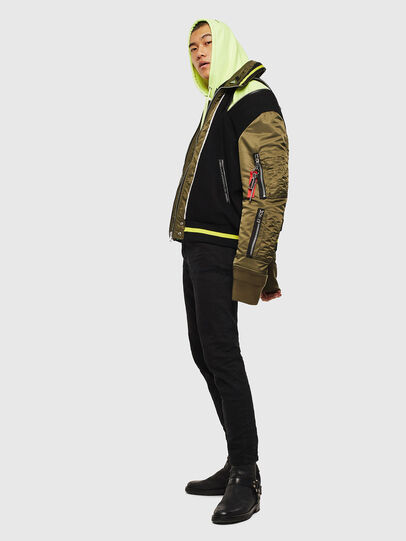 Diesel - W-SHARYN, Black/Green - Winter Jackets - Image 8