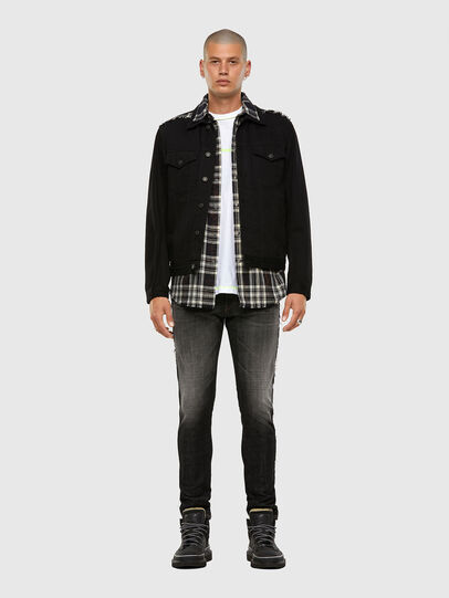 Diesel - NHILL-C, Black - Denim Jackets - Image 7