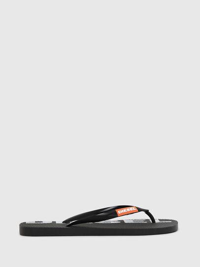 Diesel - SA-BRIIAN, Black/White - Slippers - Image 1