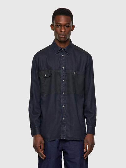 Diesel - D-MILLY-SP1, Dark Blue - Denim Shirts - Image 1