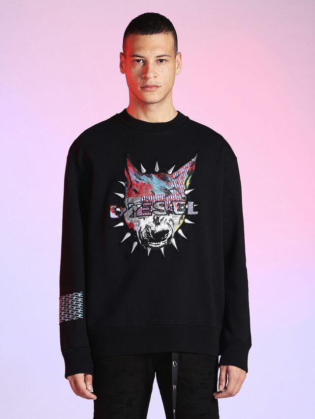 Diesel - LU-S-BAY, Black - Sweaters - Image 1