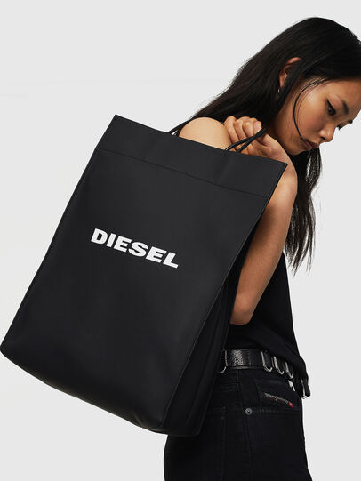 Diesel - SAKETTONE, Black - Shopping and Shoulder Bags - Image 6