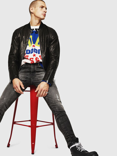Diesel - L-DAVIDOV, Black - Leather jackets - Image 6