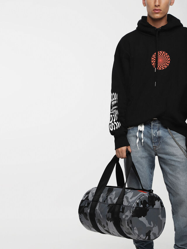 Diesel - F-BOLD DUFFLE, Grey Melange - Travel Bags - Image 4