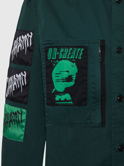 Diesel - S-MARCUS, Dark Green - Shirts - Image 4