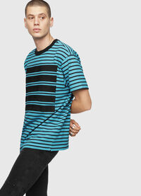 T-WALLACE-STRIPE, Turquoise