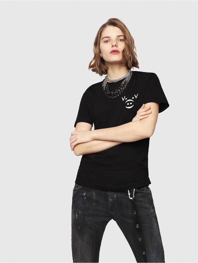 Diesel - CL-T-GADIE, Black - T-Shirts - Image 2