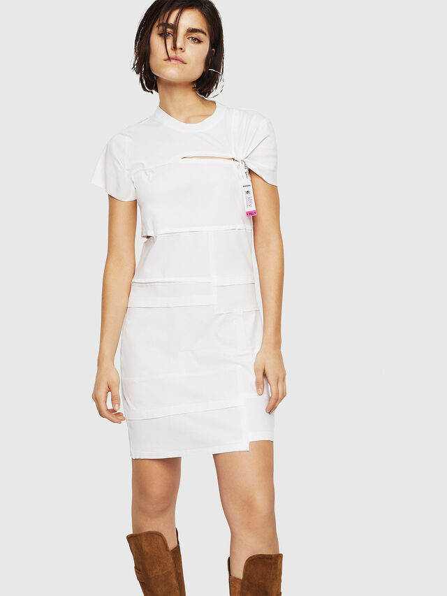 Diesel - D-MILIA-B, White - Dresses - Image 1