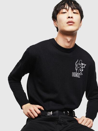 Diesel - CL-K-DEBNAM, Black - Knitwear - Image 4