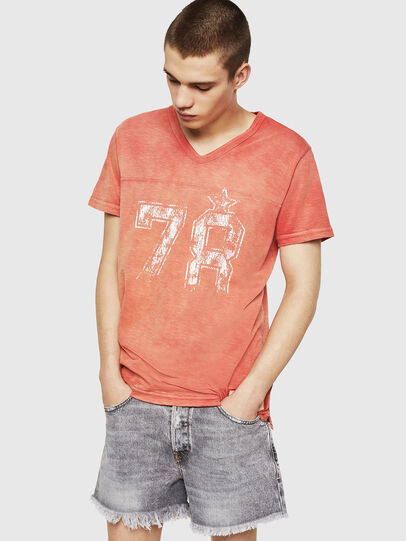 Diesel - T-DIEGO-V-CUT, Fire Red - T-Shirts - Image 4