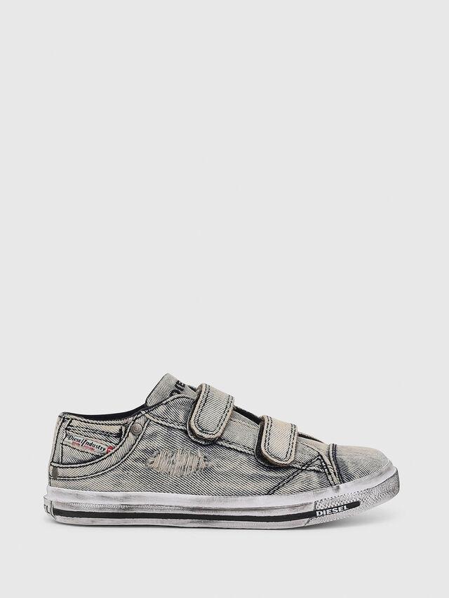 Diesel - SN LOW STRAP 11 DENI, Grey Jeans - Footwear - Image 1