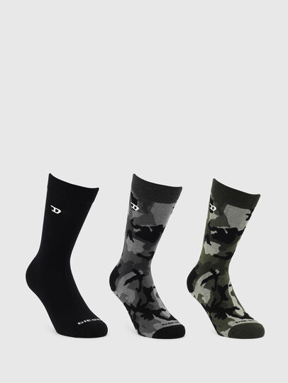 Diesel - SKM-RAY-THREEPACK, Black/Green - Socks - Image 1