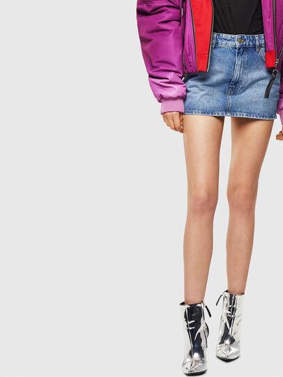 Diesel - DE-EISY, Light Blue - Skirts - Image 1