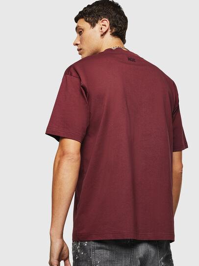 Diesel - T-LUCAS-NML-B1, Bordeaux - T-Shirts - Image 2