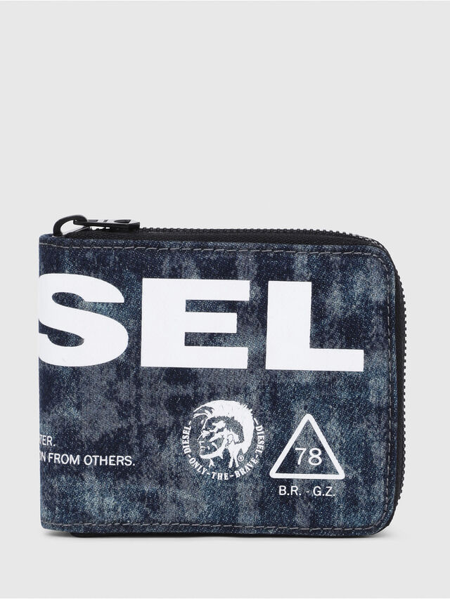 Diesel - ZIPPY HIRESH S, Blue - Zip-Round Wallets - Image 1