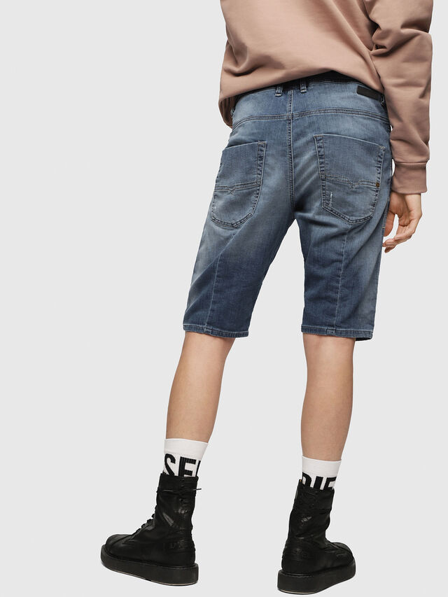 Diesel KROOSHORT JOGGJEANS, Light Blue - Shorts - Image 2