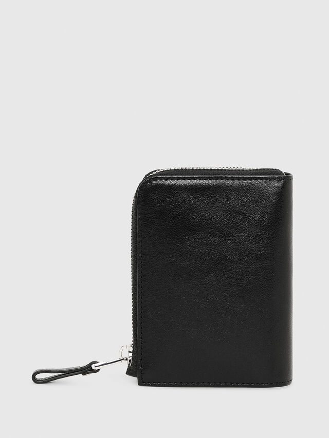Diesel L-12ZIP, Black - Small Wallets - Image 2