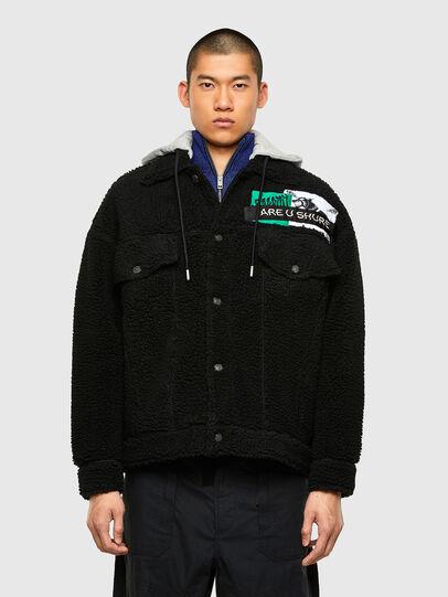 Diesel - W-GARY, Black - Winter Jackets - Image 1