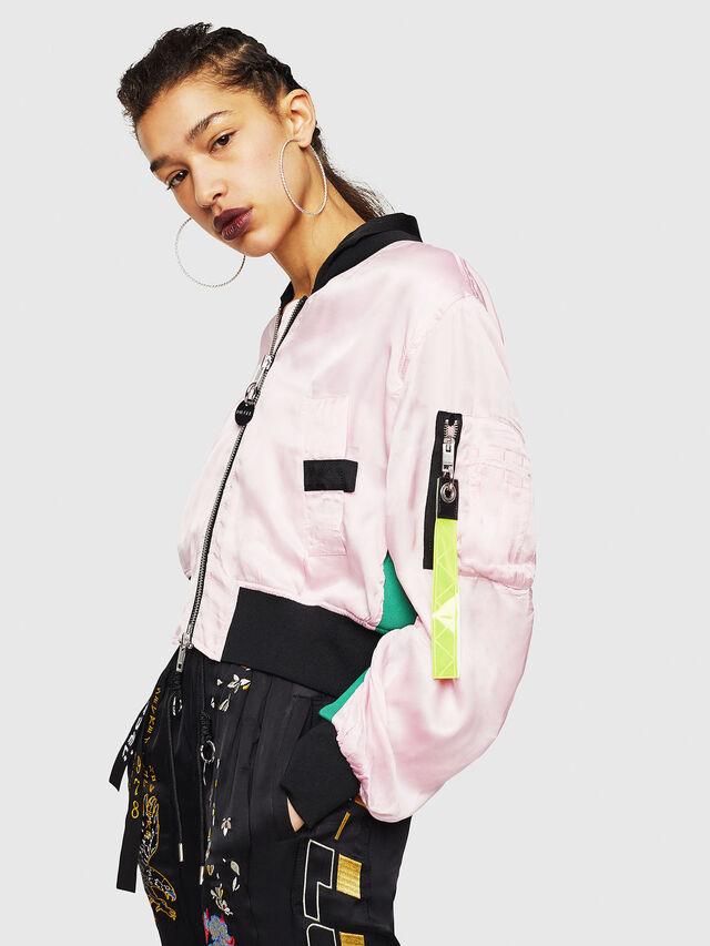 Diesel - G-KINSLEE-A, Pink - Jackets - Image 1