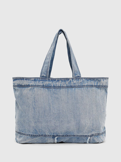 Diesel - D-THISBAG SHOPPER L, Light Blue - Shopping and Shoulder Bags - Image 2