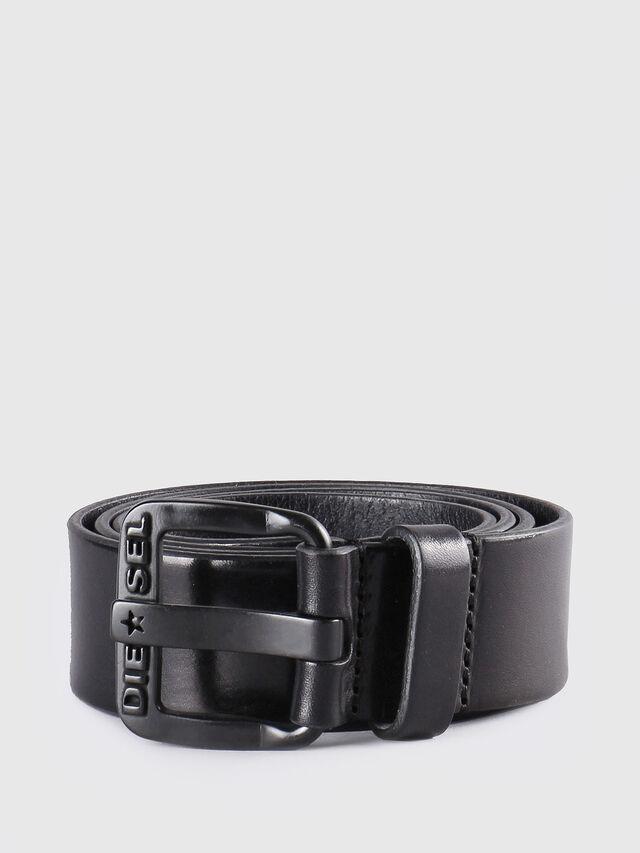 Diesel B-STAR, Black Leather - Belts - Image 1