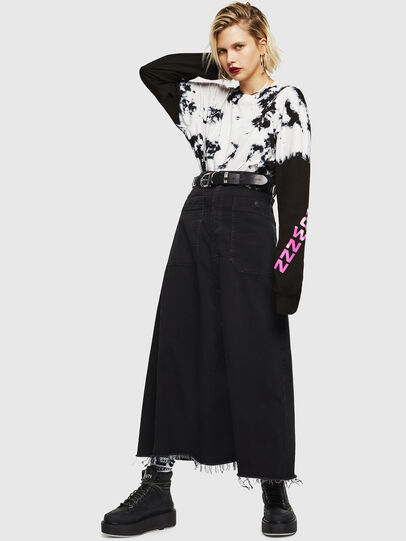 Diesel - D-RHITA JOGGJEANS, Black/Dark grey - Skirts - Image 5