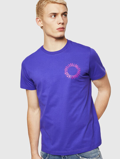 Diesel - T-DIEGO-A12, Violet - T-Shirts - Image 1