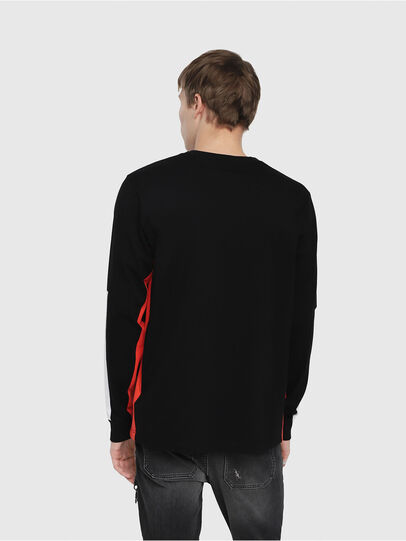 Diesel - T-HARUS-LS, Black - T-Shirts - Image 2