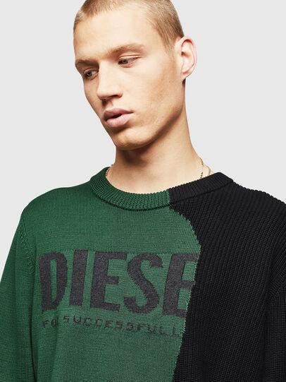 Diesel - K-HALF, Green/Black - Knitwear - Image 3