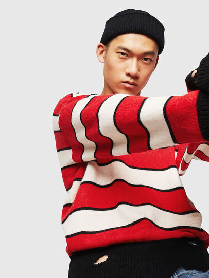 Diesel - K-LOVERY, Red/White - Knitwear - Image 5