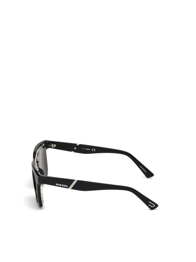 Diesel DL0250, Bright Black - Eyewear - Image 2