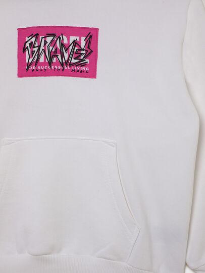 Diesel - SGIRKHOODX5 OVER, White - Sweaters - Image 3