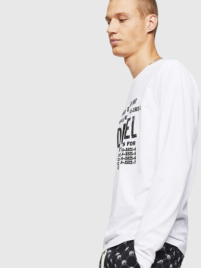 Diesel - T-DIEGO-B6-LONG, White - T-Shirts - Image 3