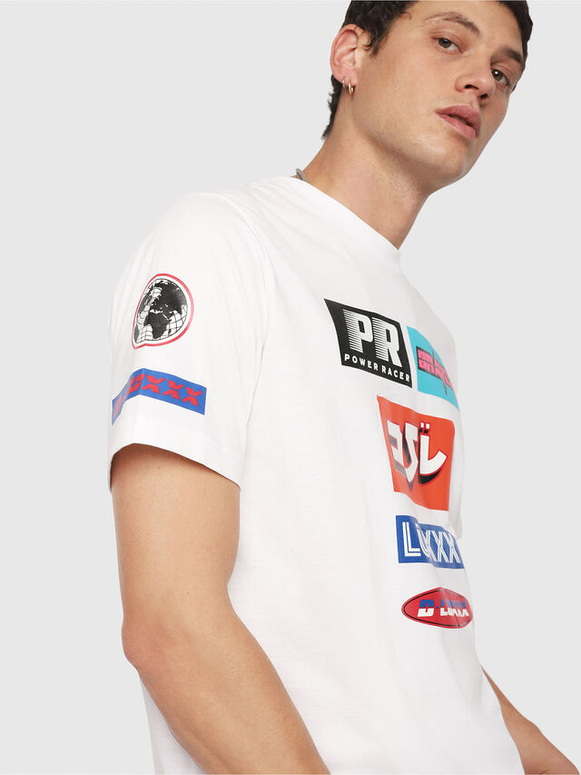 Diesel - T-JUST-YA, White - T-Shirts - Image 4