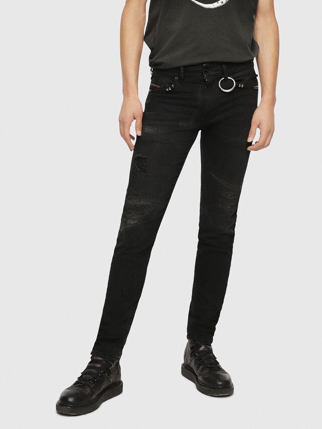Diesel - Thommer 0090N, Black/Dark grey - Jeans - Image 1