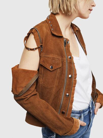 Diesel - L-TAHALI, Brown - Leather jackets - Image 5